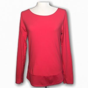 Lucy Long Sleeve Fuschia Top Workout